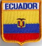 Ecuador Embroidered Flag Patch, style 06.